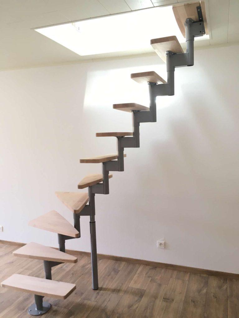 Pose d'un escalier bois/metal + garde corps